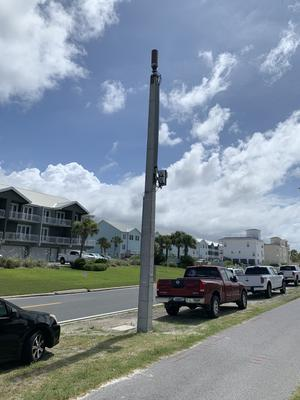 Small Cell on light pole.