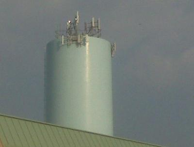 Antennas on existing municipal structure.