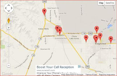 Map of other Cell Towers in relation to my 4 corners at 14/178
