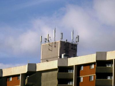 Rooftop cell site