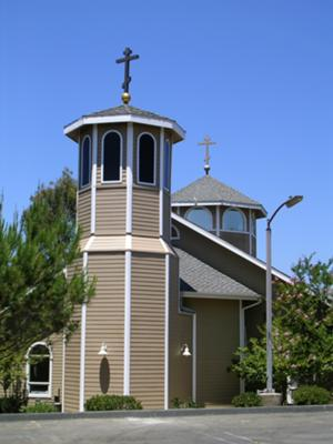 Octagonal Bell Tower with Cross, T-Mobile